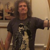 Brian May Wearing A Freddie Mercury Shirt