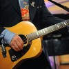 "Elvis Costello Playing Paul McCartney's ""Detroit Red Wings"" Acoustic Guitar Upside Down"