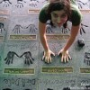 "Love This!!! Frank Zappa's Kids Filling Dads Handprint at Guitar Center ""RockWalk"""