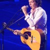 "Paul McCartney Adds Pittsburgh Penguins Sticker To ""Red Wings"" Epiphone Texan Guitar"
