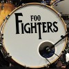 "Taylor Hawkins' The Beatles Inspired ""Drop T"" Logo Foo Fighter Drum Head"