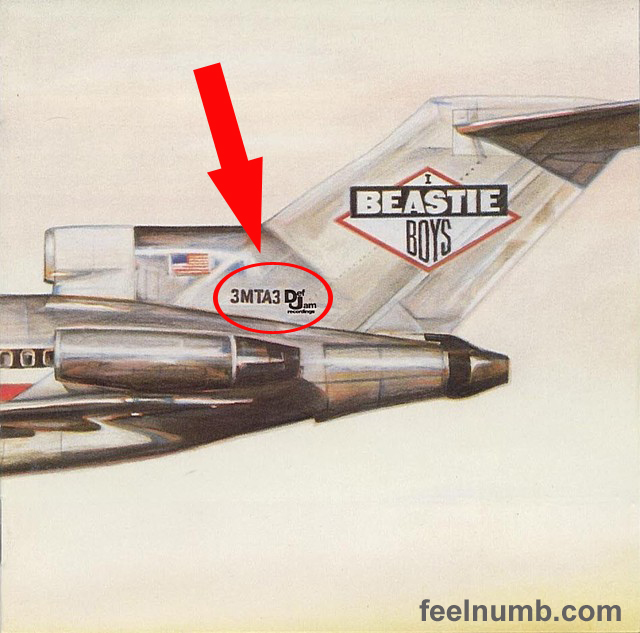 Beastie Boys Licensed To Ill Eat Me Tail Numbers 3MTA3