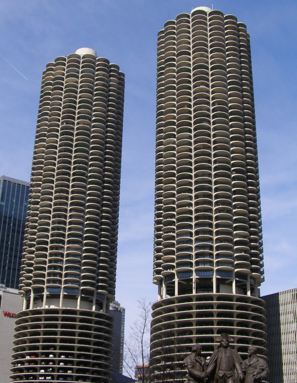 Yankee Hotel Foxtrot Marina City Chicago Album Cover Photo
