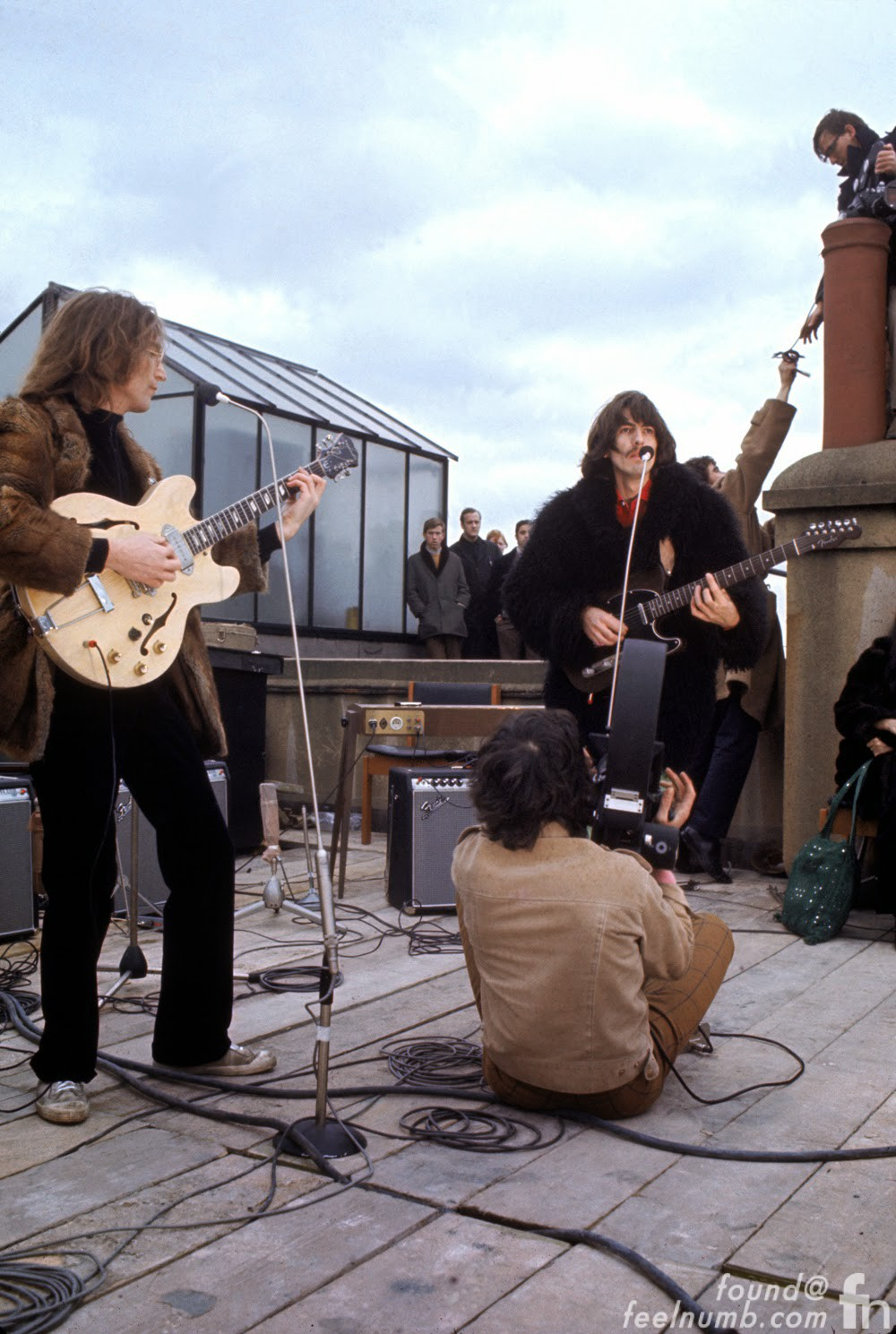 George Harrison The Beatles Rooftop Concert January 30, 1969