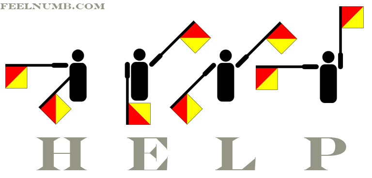HELP In Flag Semaphore The Beatles