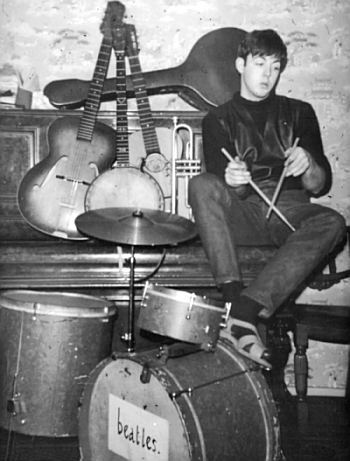 paul mccartney beatles drums