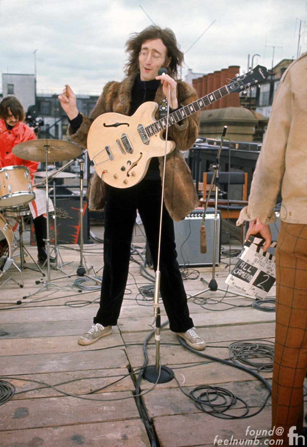 John Lennon The Beatles January 30, 1969 Rooftop Apple Records Offices Savile Row