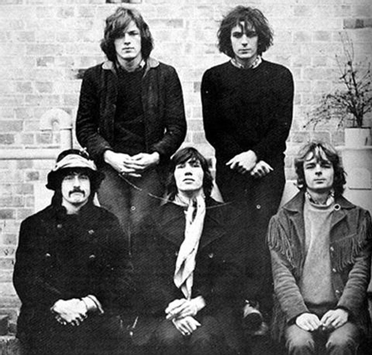 Pink Floyd Syd Barrett David Gilmour 5 Members 1986