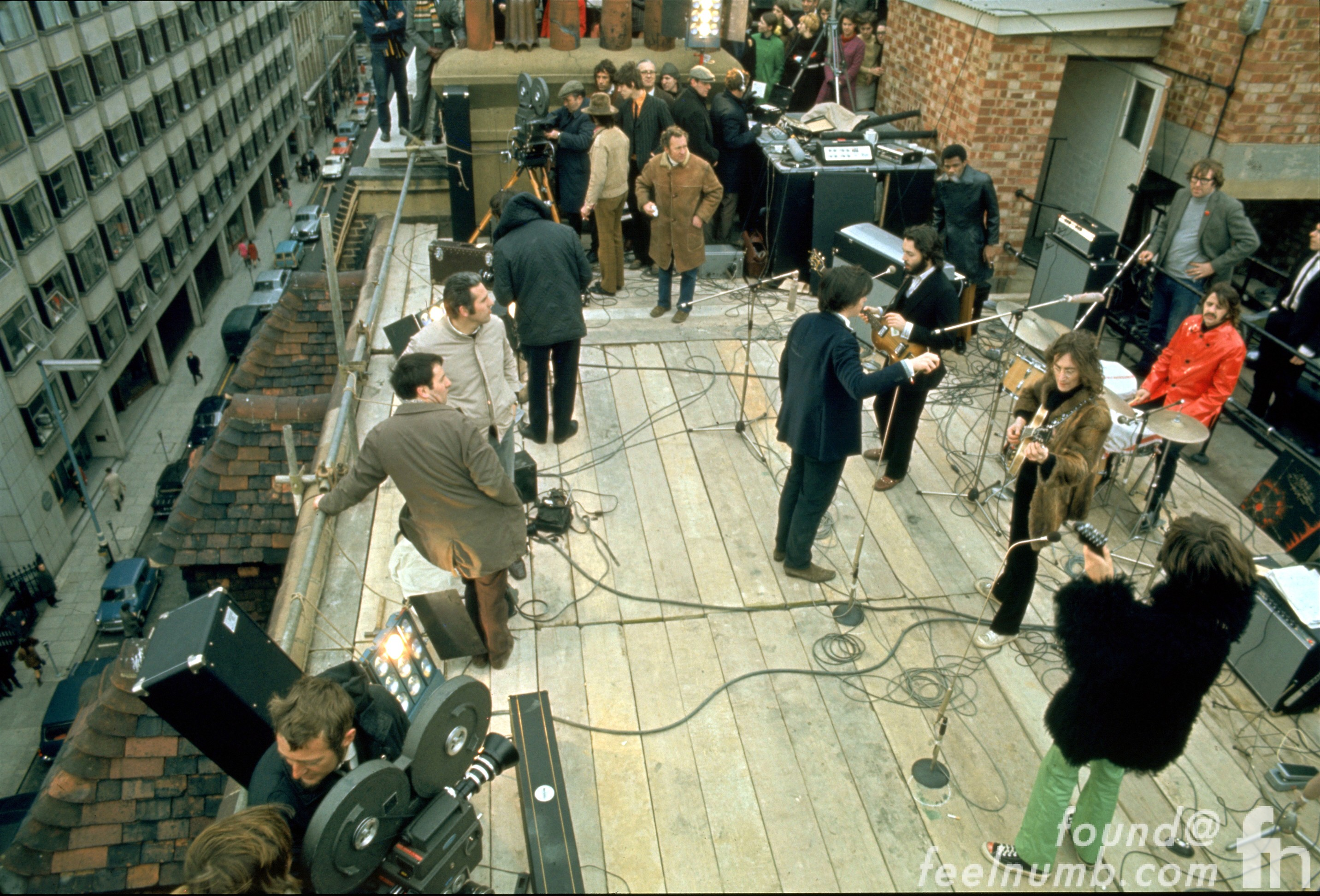 The Beatles January 30, 1969 3 Savile Row Rooftop Let It Be Concert Paul McCartney John Lennon George Harrison Ringo Starr Billy Preston Mal Evans