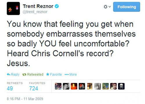 Trent Reznor Chris Cornell Twitter Scream Album 2009