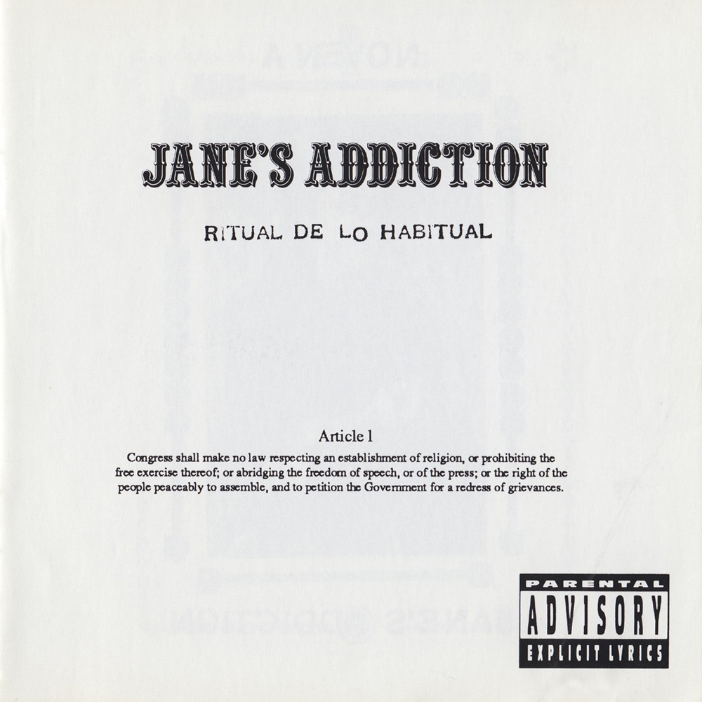 Janes Addiction Ritual de lo Habitual Amendment Version Front