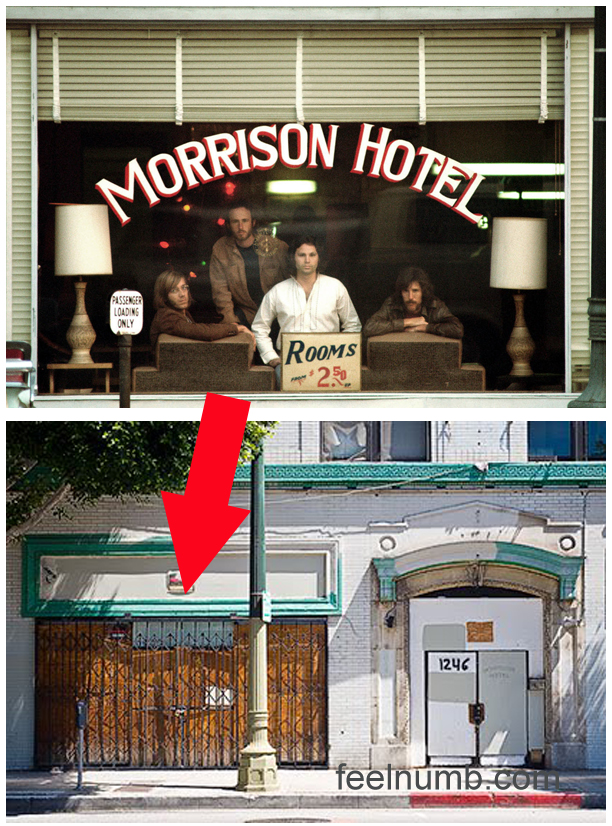 Jim Morrison The Doors Morrison Hotel Location South Hope Street Los Angeles CA