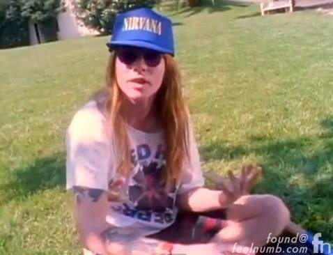 Axl Rose Nirvana Hat Kurt Cobain Guns N' Roses