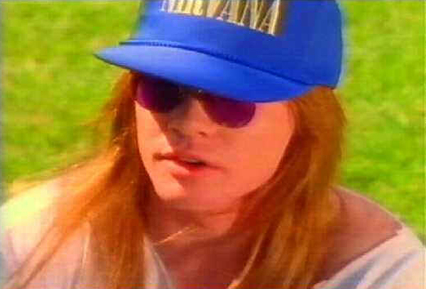 Axl Rose Nirvana Hat Guns N' Roses