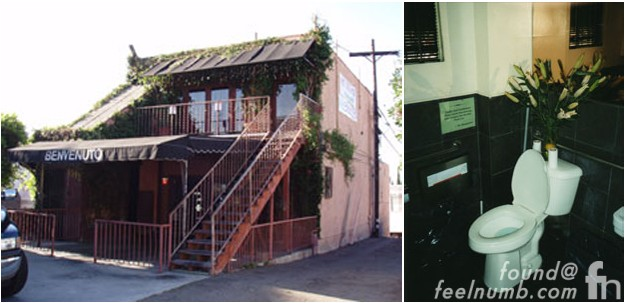 Benvenuto Cafe The Doors Workshop 8512 Santa Monica Blvd Jim Morrison Studio Bathroom