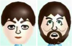 Paul McCartney Nintendo Wii Mii Character The Beatles