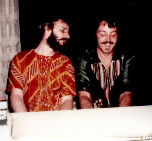 Paul McCartney & Ringo Starr John Lennon Lost Weekend Last Photo