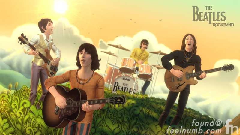 The Beatles Rockband Nintendo Mii Wii Characters