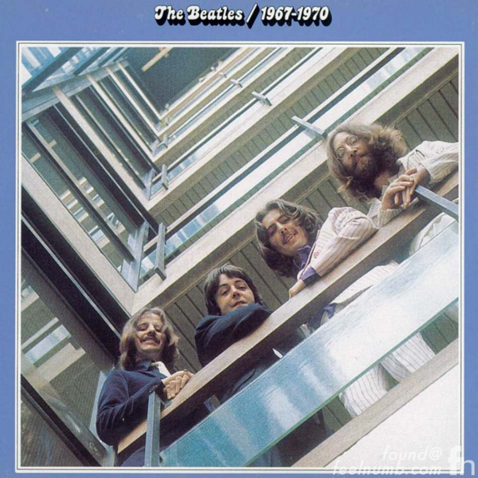 The Beatles 1967-1970 Blue Album Cover EMI Stairwell Location
