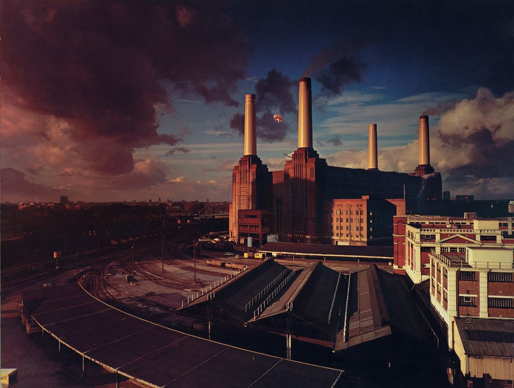 Full Pink Floyd Animals Album Cover Battersea Power Station