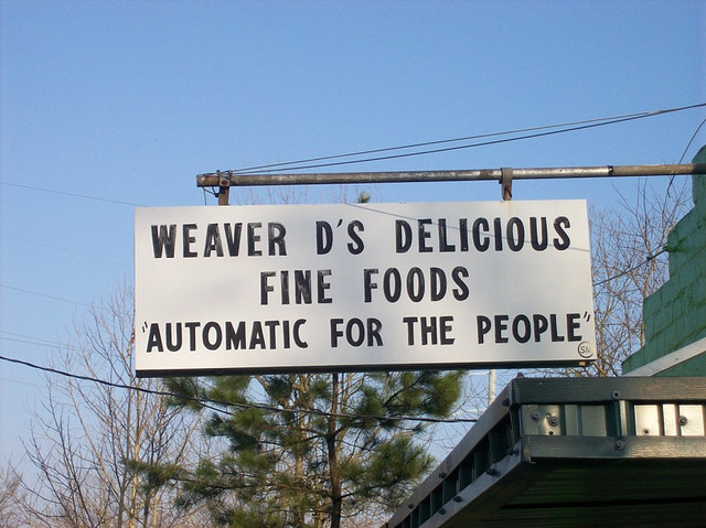 R.E.M. Automatic For The People Weaver D's Fine Foods Athens Georgia