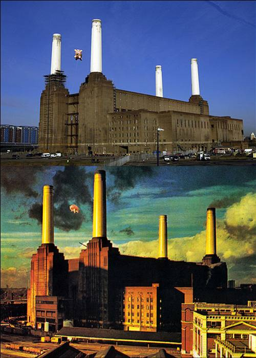 Pink Floyd Animals Album Cover Pig Battersea Power Station