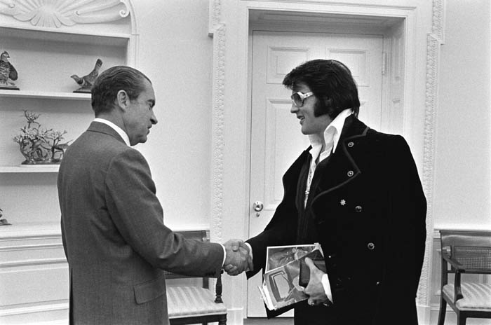 Elvis Presley Richard Nixon White House