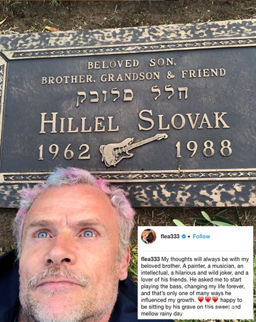 Flea Hillel Slovak Red Hot Chili Peppers Death Location