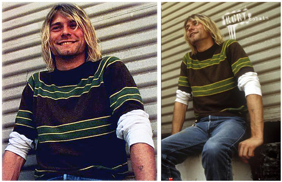 Kurt Cobain Green Sweater Smells Like Teen Spirit Music Video