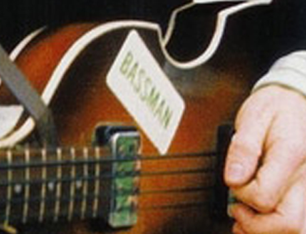 Paul McCartney The Beatles BASSMAN sticker Let It Be Hofner Bass