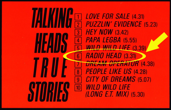 Talking Heads True Stories Album Radio Head Song Radiohead Band Name