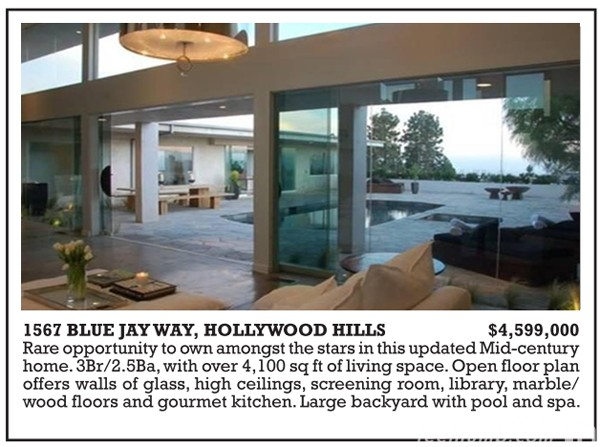 1567 Blue Jay Way The Beatles George Harrison Song Los Angeles California  House. The  Blue Jay Way  Home That George Harrison Rented in Los Angeles