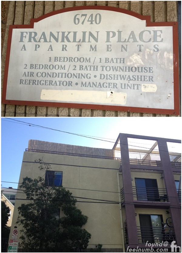 6740 Franklin Place Dee Dee Ramone Apartment Death Location Hollywood