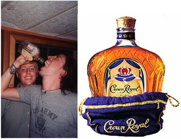 Dave Grohl Foo Fighters Crown Royal Whiskey