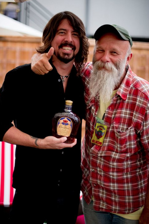 Dave Grohl Seasick Steve Crown Royal Whiskey Drinking