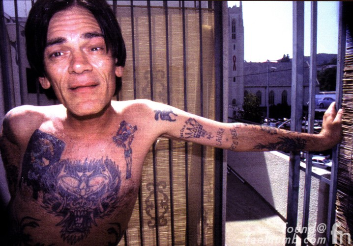 Dee Dee Ramone Last Photo 2002 Hollywood, California Franklin Place