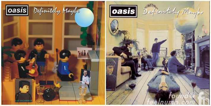 Oasis Definitely Maybe Album Cover Made With Legos
