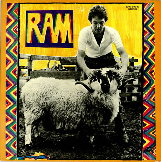Paul McCartney Ram Album Cover John Lennon Imagine Pig Photo
