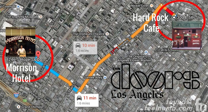 The Doors Los Angeles Morrison Hotel Hard Rock Cafe Location Mao