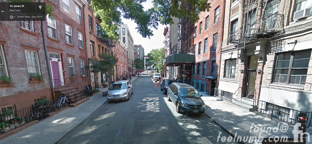 The Freewheeling' Bob Dylan Album Cover Photo Location New York Google Street View