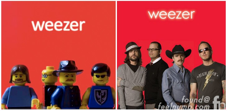 Weezer Red Album Cover Remade With Legos