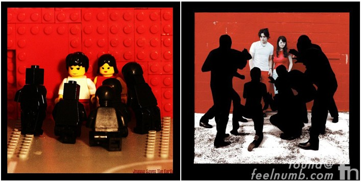 White Stripes White Blood Cells Album Cover Lego Remake Legos
