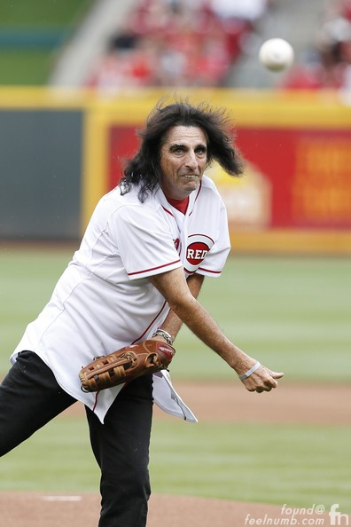 Alice Cooper Cincinnati Reds First Pitch