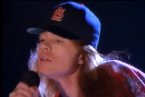 Axl Rose Fuck You St. Louis Cardinals Hat Don't Cry Video