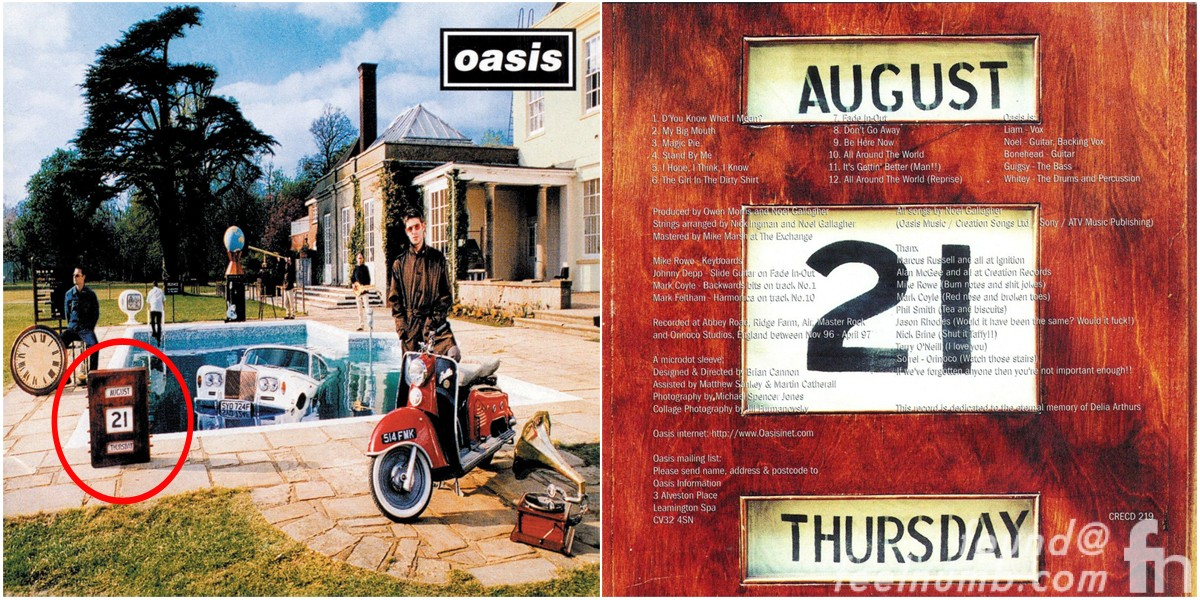 Oasis Be Here Now August 21 Date Album Cover Photo