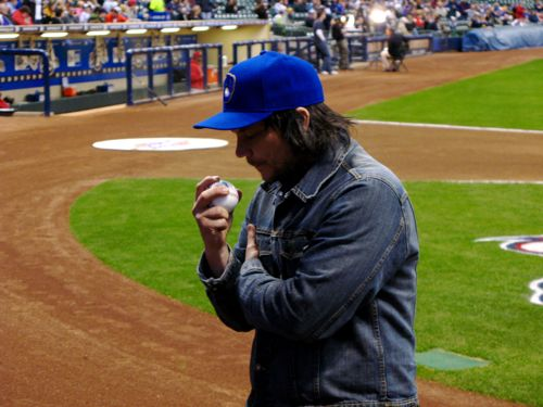 Jeff Tweedy Wilco Milwaukee Brewers First Pitch Baseball