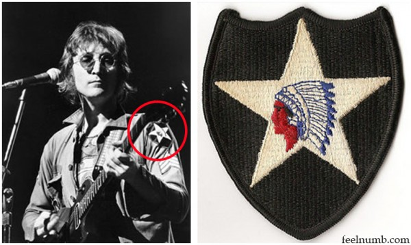 2nd Infantry Patch John Lennon US Army Shirt Jacket