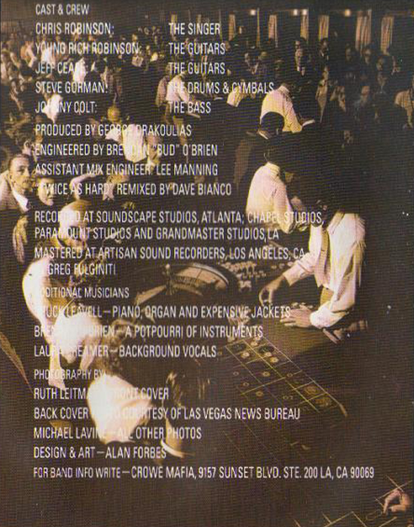 Black Crowes Shake Your Money Maker Album Credits Rick Rubin