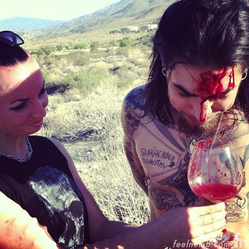 Dave Navarro Mother Painting Blood Murder Constance