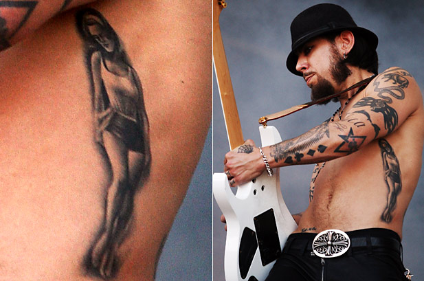 Dave Navarro Mother Constance Tattoo Murder Kat Von D